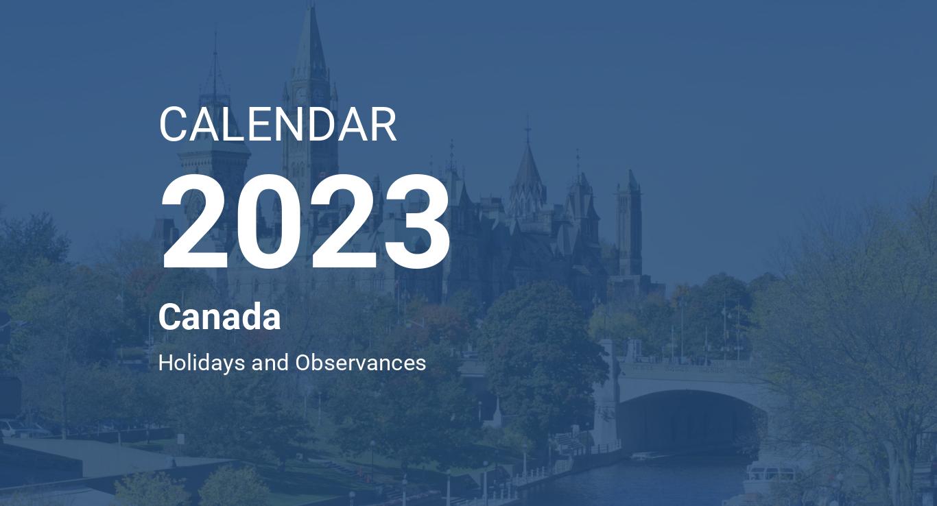 Calendrier Utc 2022 2023 Year 2023 Calendar – Canada