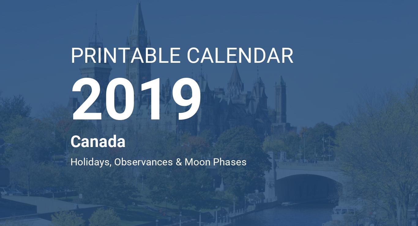 Calendrier Libreoffice 2020.Printable Calendar 2019 For Canada Pdf