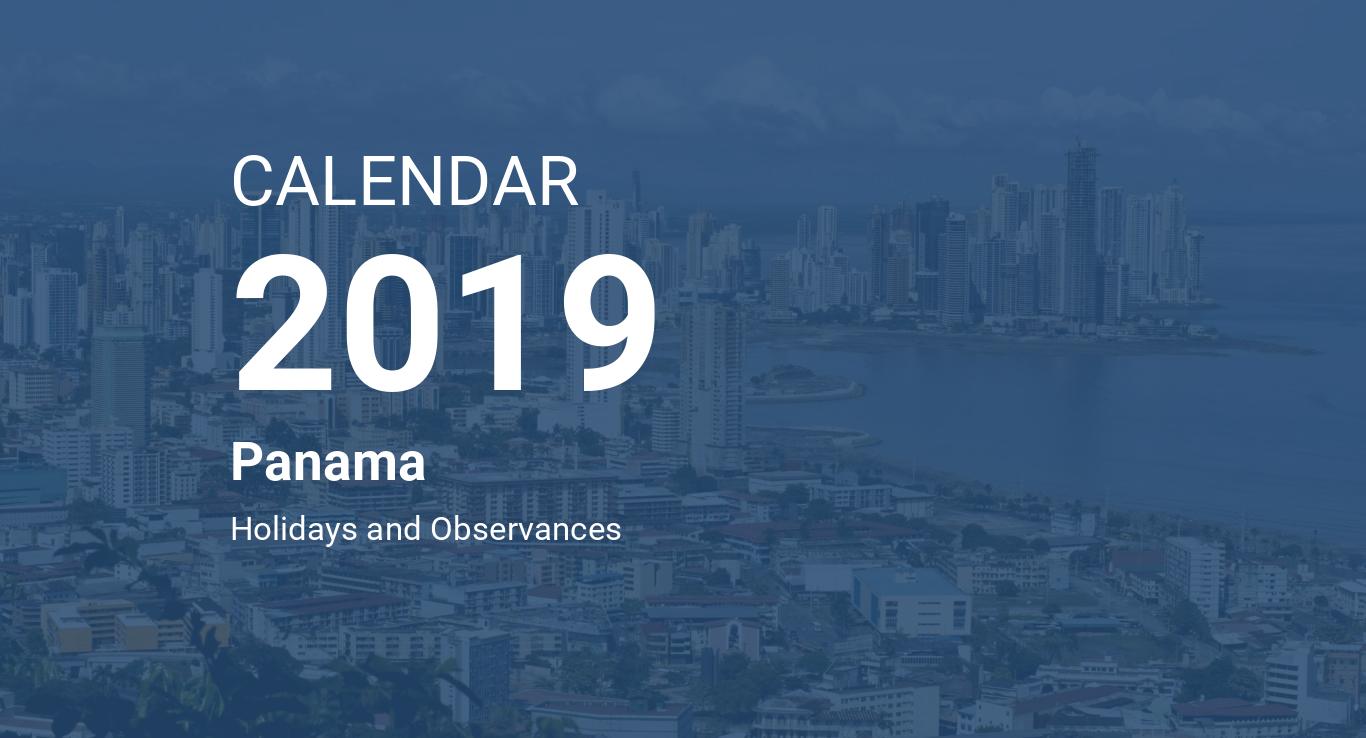 Calendario Panama 2018.Year 2019 Calendar Panama