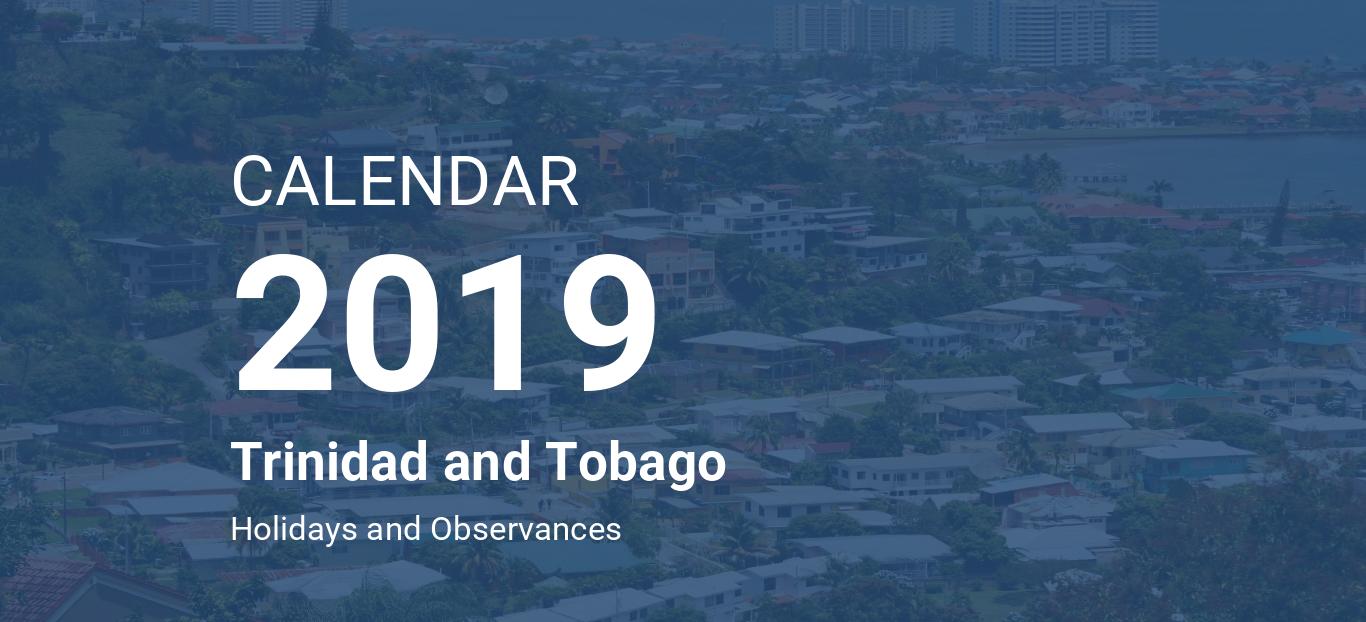 Trinidad Calendar Of Events February 2019 Year 2019 Calendar – Trinidad and Tobago