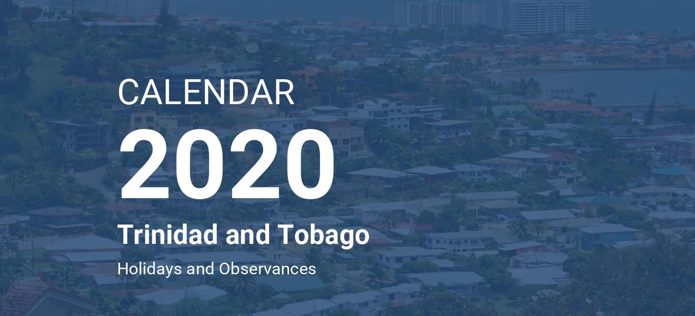 Trinidad Calendar Of Events February 2020 Year 2020 Calendar – Trinidad and Tobago