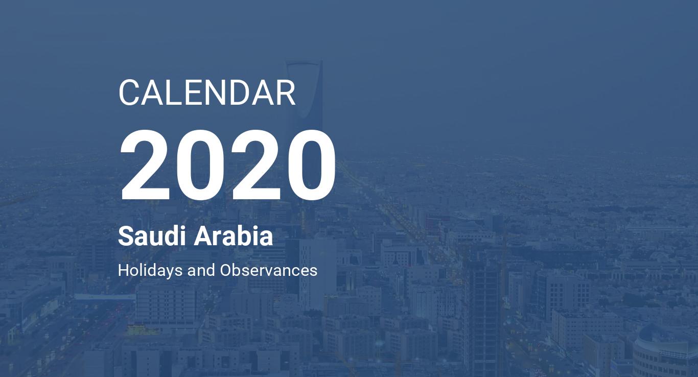 Calendar 2020 Islam Year 2020 Calendar – Saudi Arabia