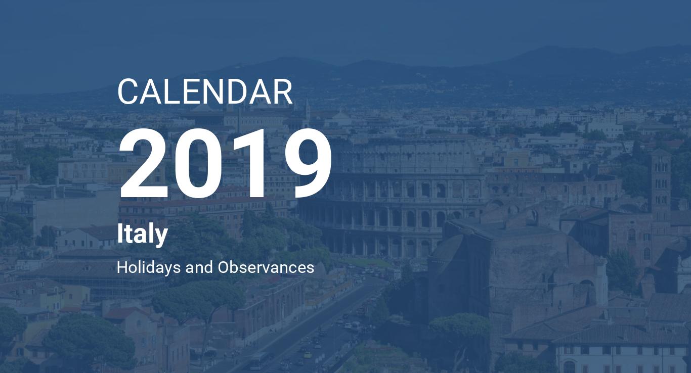Calendario As Roma 2019 20.Year 2019 Calendar Italy