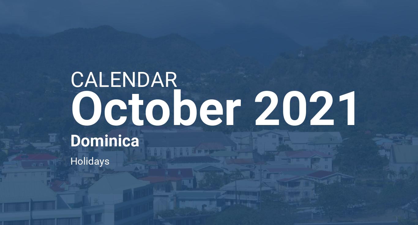 October 2021 Calendar - Dominica