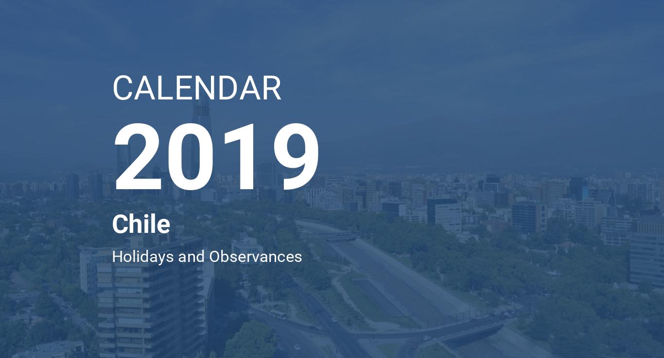 Year 2019 Calendar – Chile