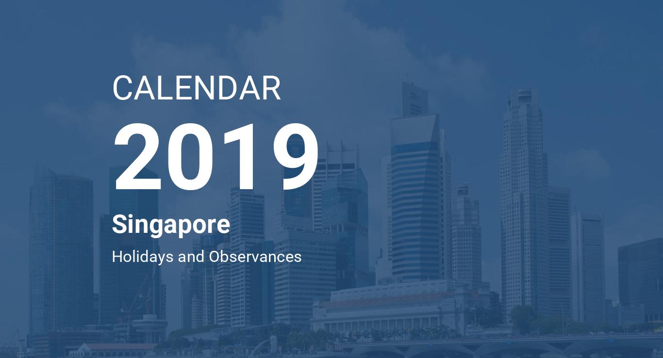 year 2019 calendar singapore
