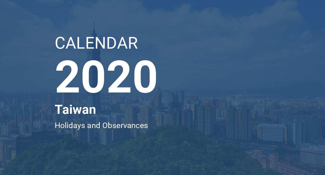 Calendario Word 2020.Year 2020 Calendar Taiwan