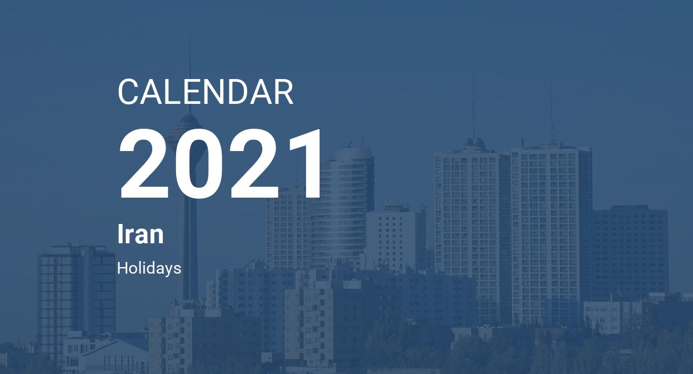 Year 2021 Calendar – Iran