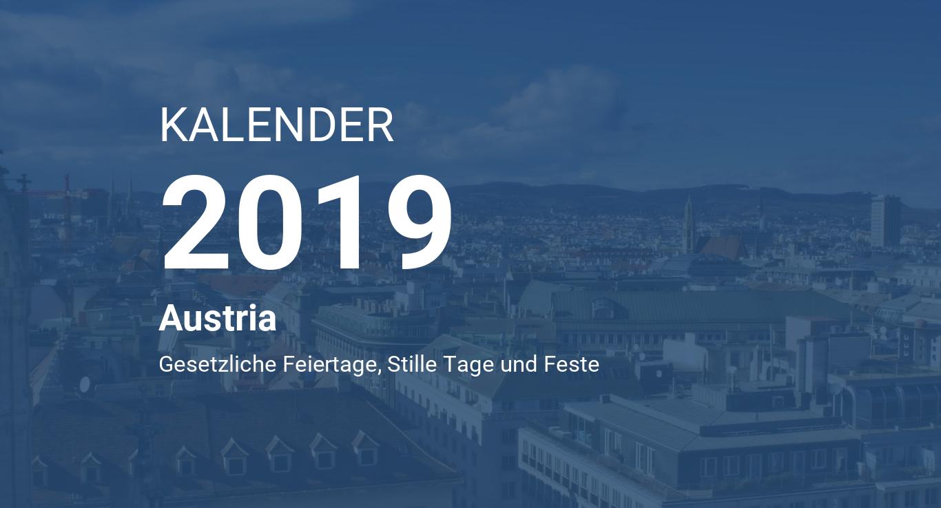 Year 2019 Calendar Austria