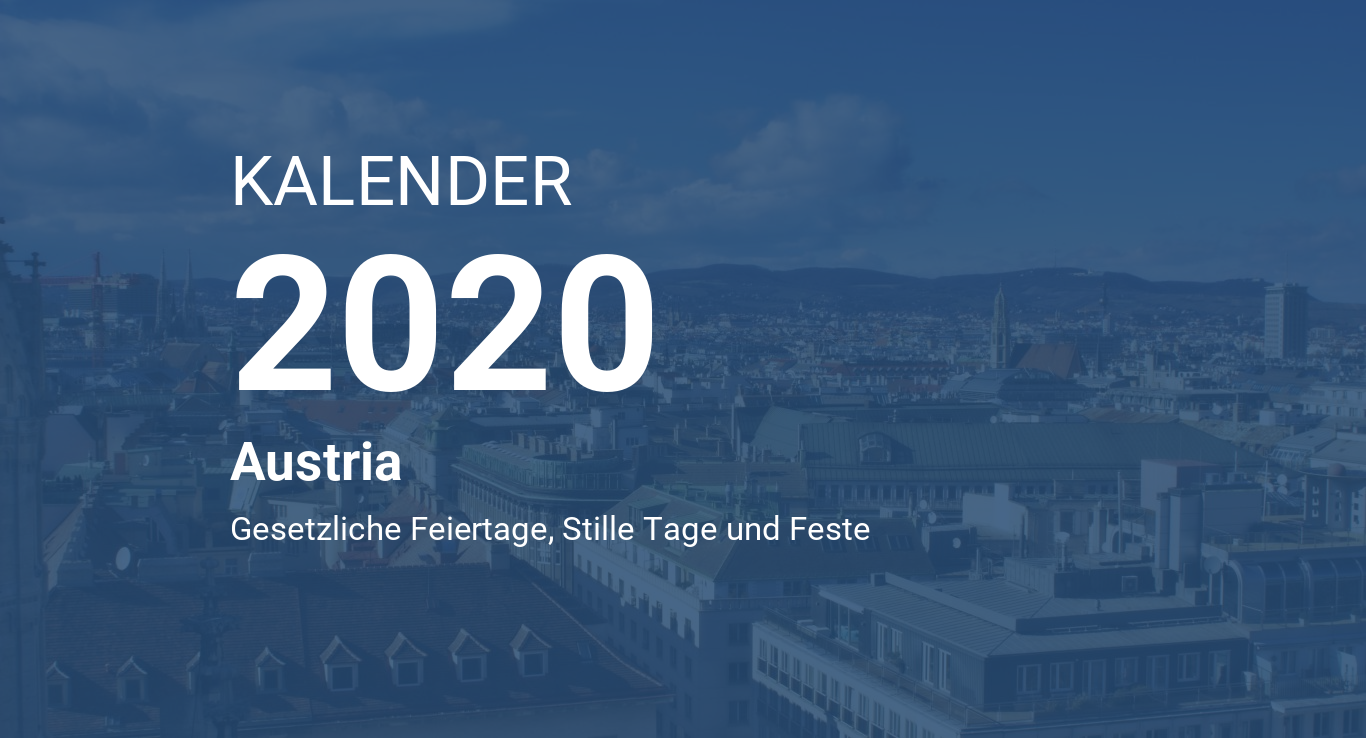 Year 2020 Calendar – Austria