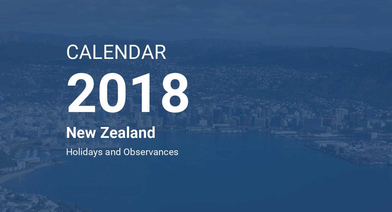 year 2018 calendar new zealand