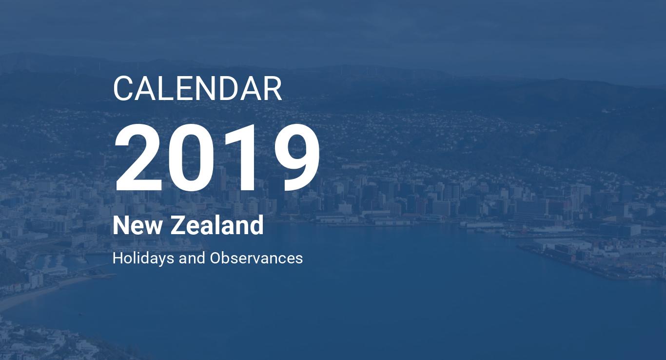 year 2019 calendar new zealand