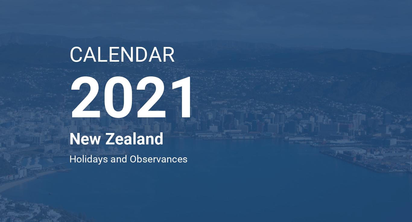 Year 2021 Calendar – New Zealand