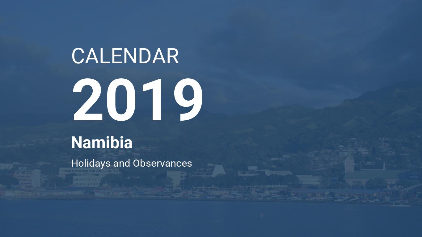 Calendar Monthly Observances : Year calendar namibia