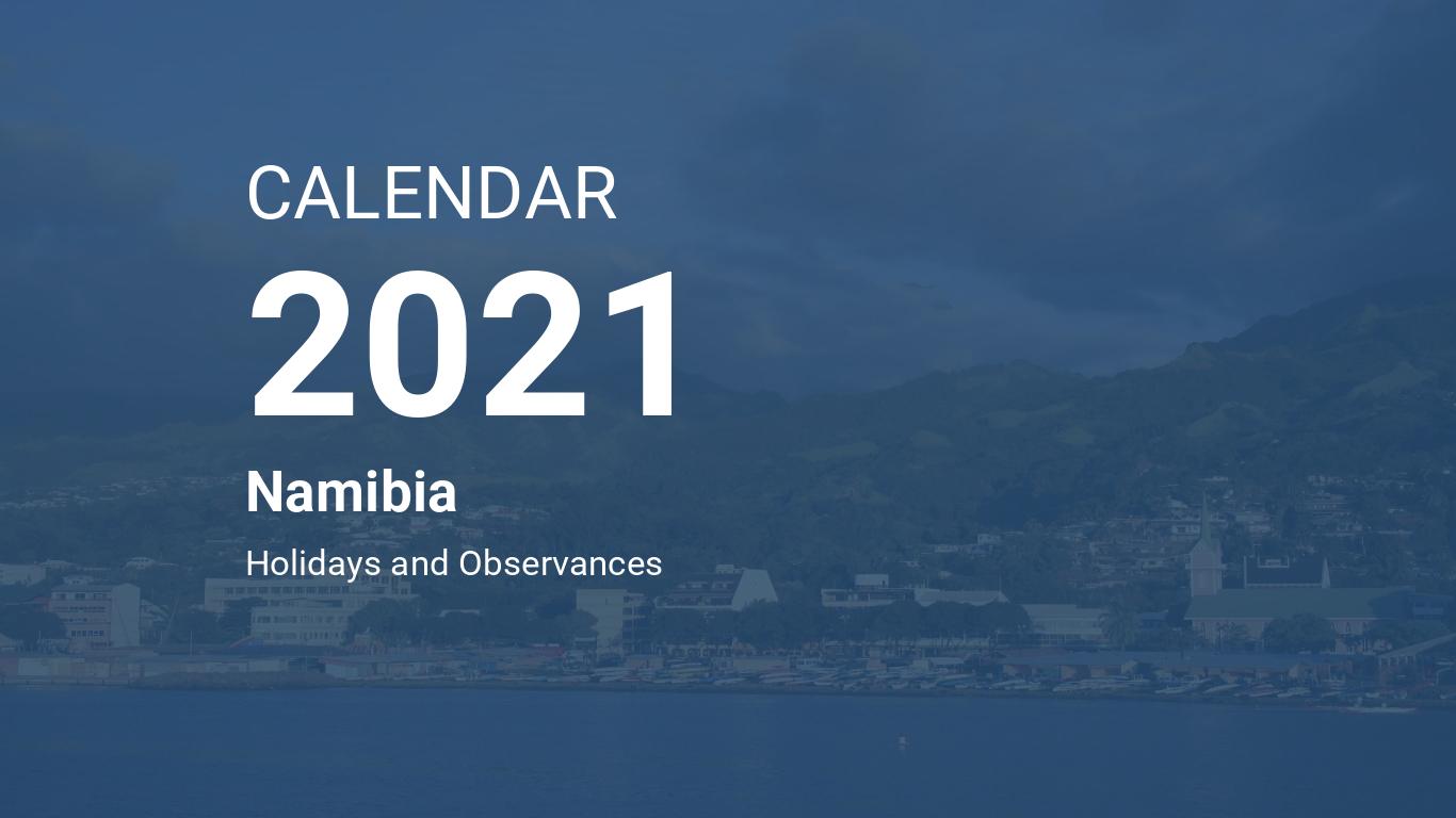 Year 2021 Calendar Namibia