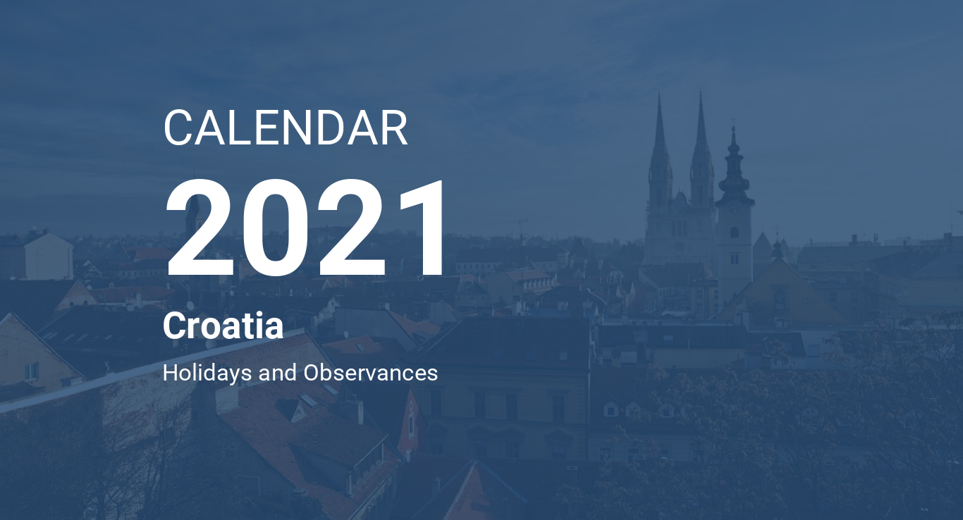 Year 2021 Calendar Croatia