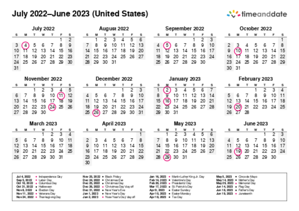 Printable Calendar 2017 for United States (PDF)