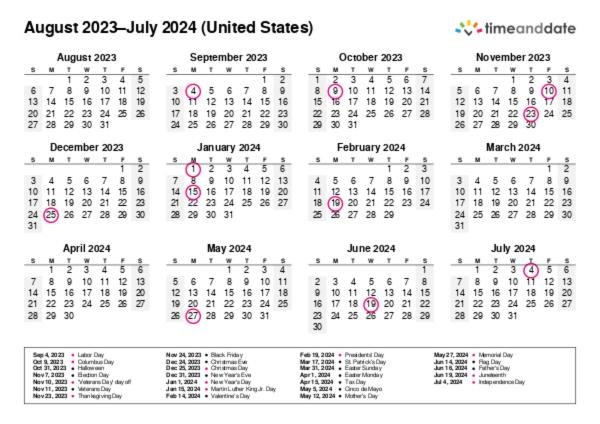 Calendar Settings: