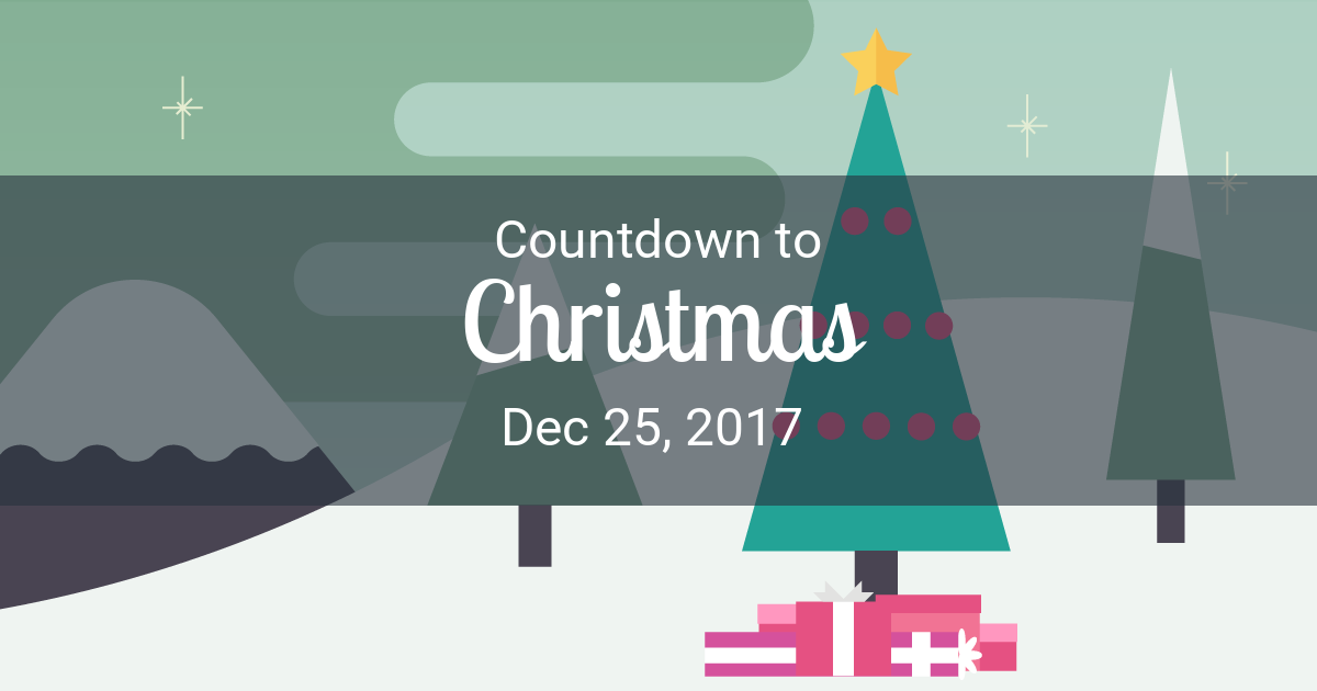 Christmas Countdown Countdown To Dec 25 2017