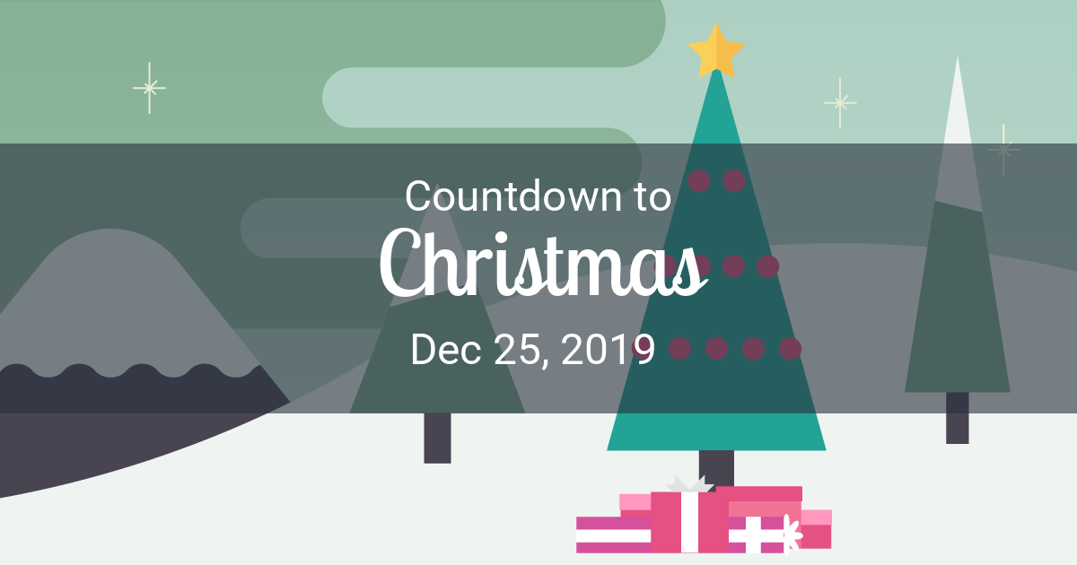 How Many Days Till Christmas 2019.Christmas Countdown Countdown To Dec 25 2019
