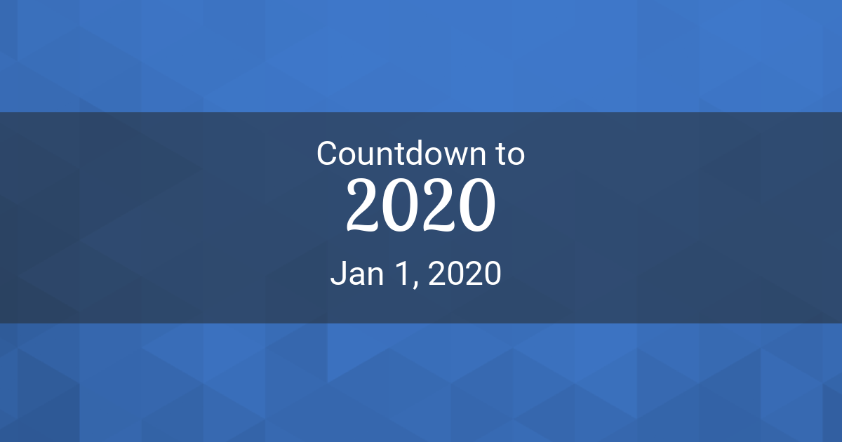 Countdown Timer - Countdown to New Year 2020 in New York
