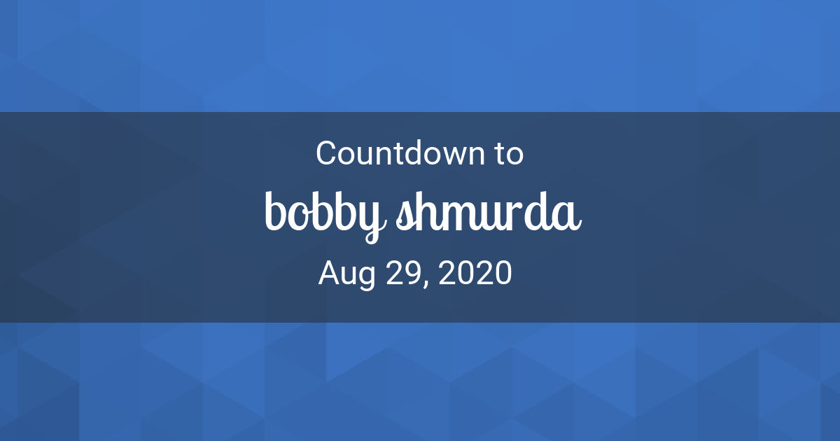 Countdown Timer - Countdown to Aug 29, 2020 in New York