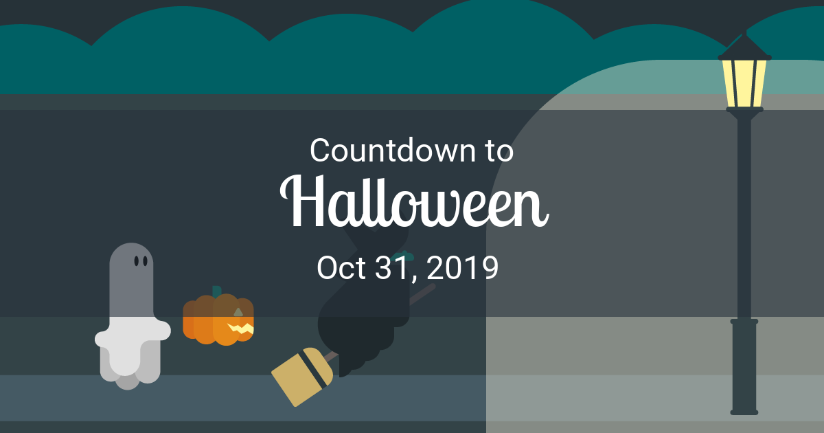 How Many Days Till Christmas 2019 Meme.Halloween Countdown Countdown To Oct 31 2019