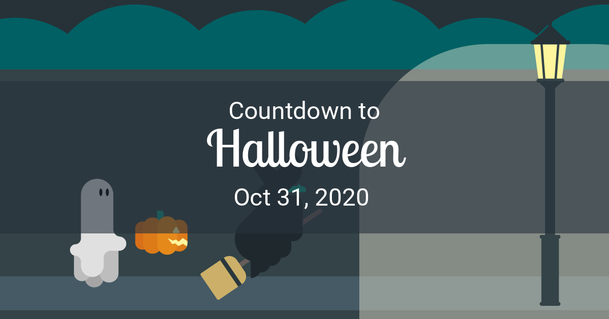 How Many Days Till Halloween 2020 With Minutes Halloween Countdown   Countdown to Oct 31, 2020