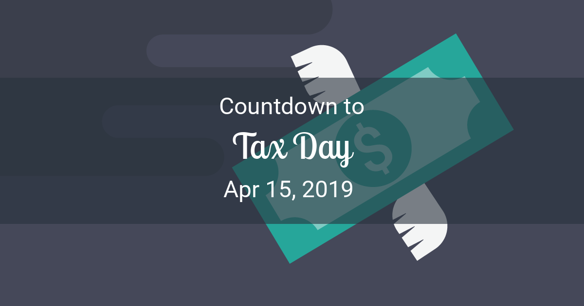 tax day countdown countdown to apr 15 2019