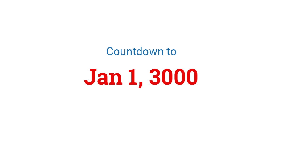 Countdown to New Year 3000 in New York