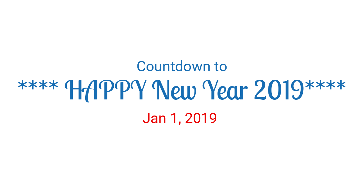 countdown to new year 2019 in new york