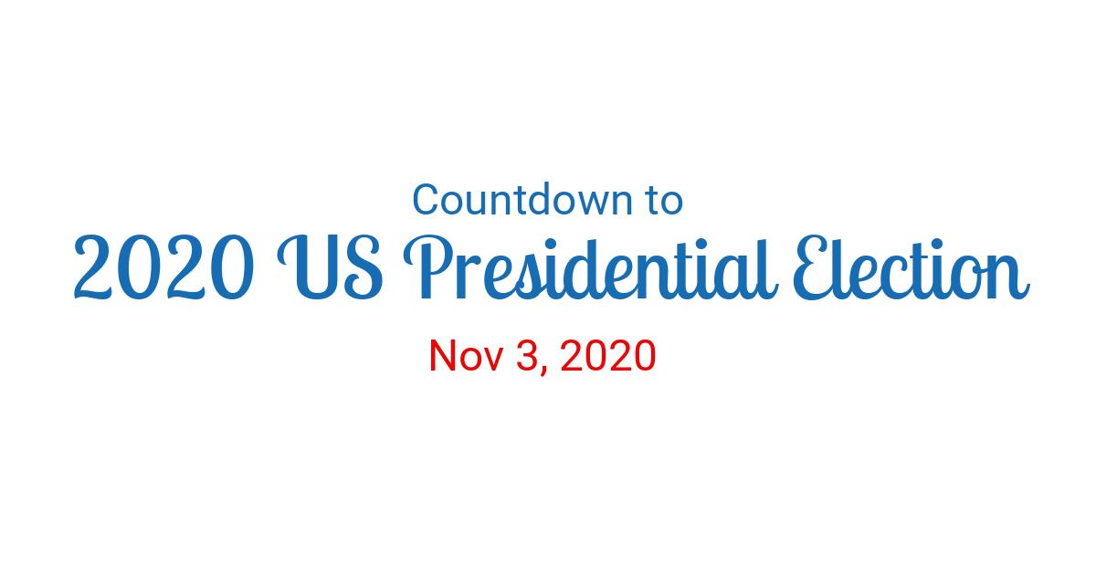 Countdown Calendar 2020 Countdown to Nov 3, 2020 in New York
