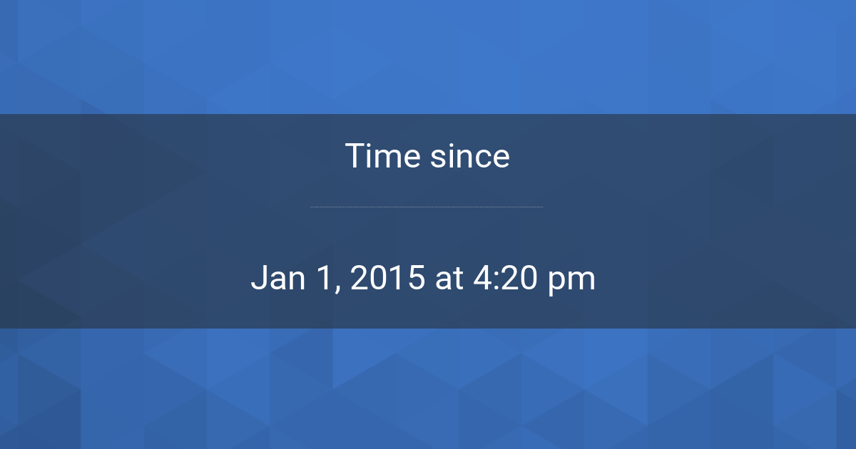 countdown timer time since jan 1 2015 4 20 pm started in new york