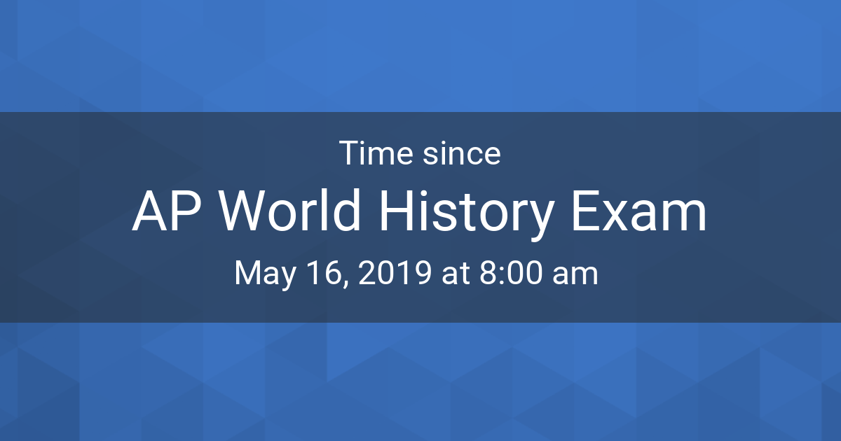 Countdown Timer - Time since May 16, 2019 8:00 am started in