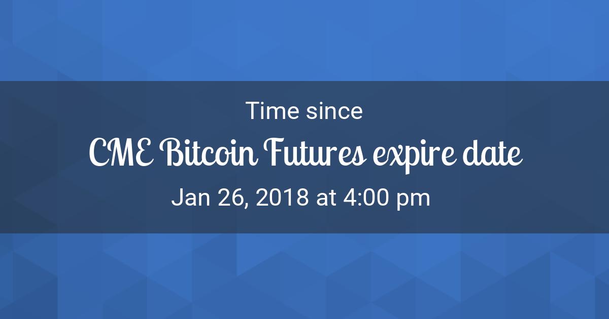date de expirare futures cme bitcoin