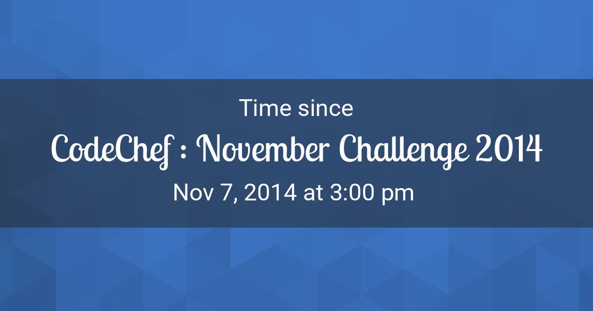 november 2014 calendar editable countdown timer time since nov 7 2014 300 pm started in new york