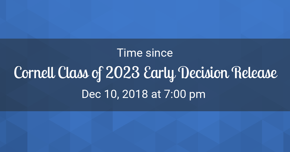Countdown Timer - Time since Dec 10, 2018 7:00 pm started in