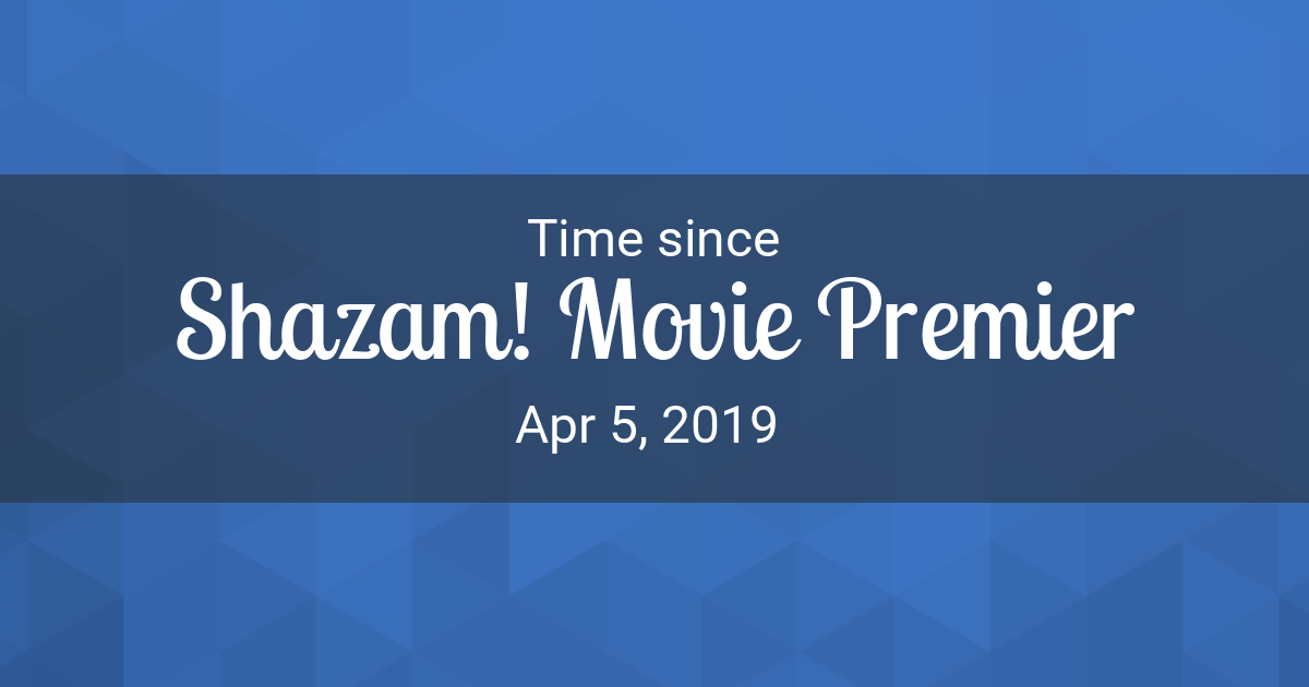 Countdown Timer - Time since Apr 5, 2019 started in New York