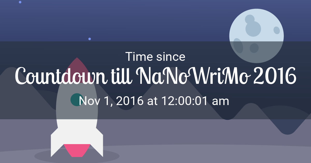 Nanowrimo Calendar 2022.Launch Countdown Time Since Nov 1 2016 12 00 01 Am Started In New York
