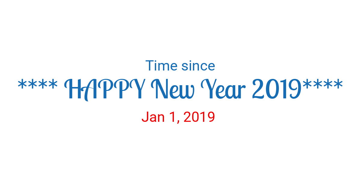 Time since New Year 2019 started in New York