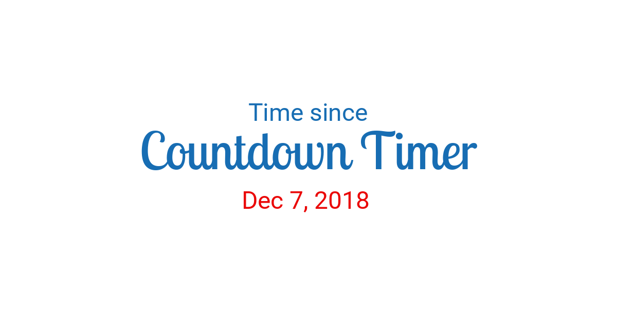 Time since Dec 7, 2018 started in New York
