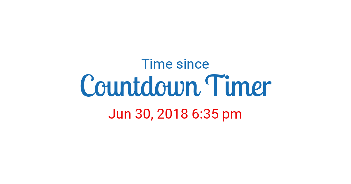 Time Since Jun 30 2018 6 35 Pm Started In New York