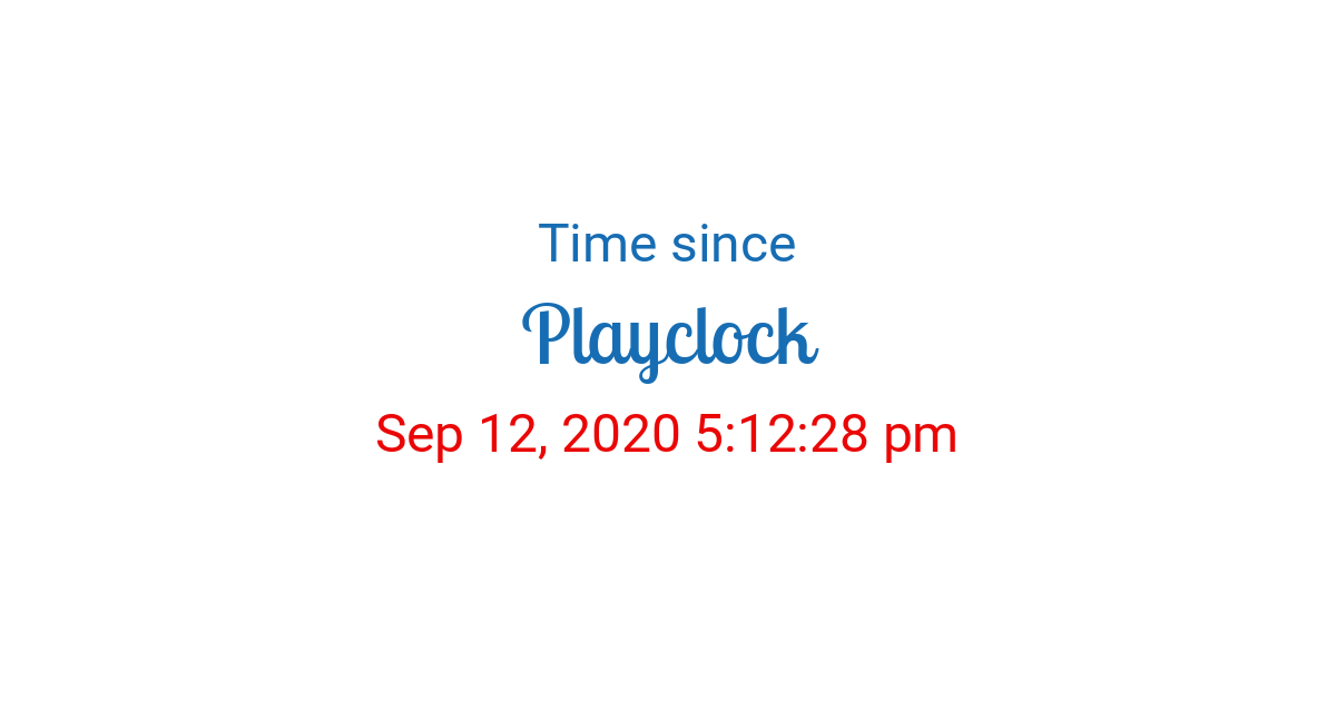 Time Since Sep 12 2020 5 12 28 Pm Started In New York