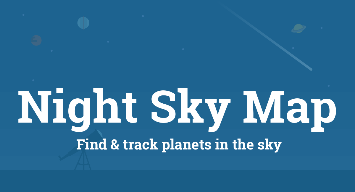 night sky map planets visible tonight