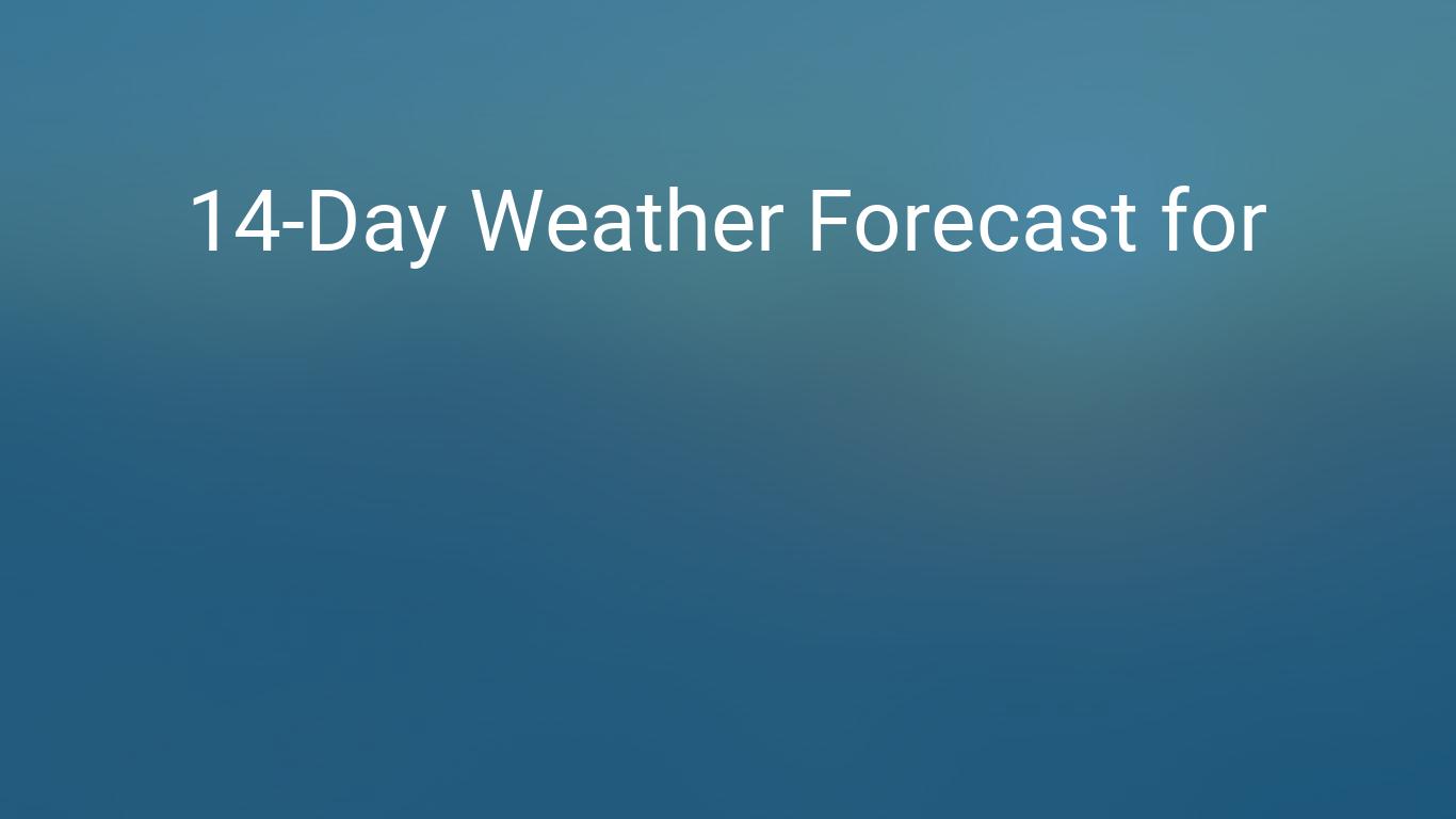 Buffalo New York USA 14 day weather forecast