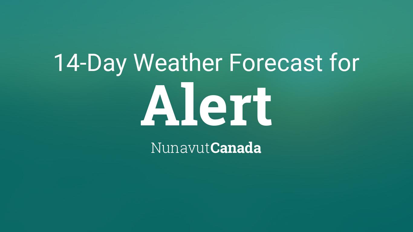 Alert, Nunavut, Canada 14 day weather forecast