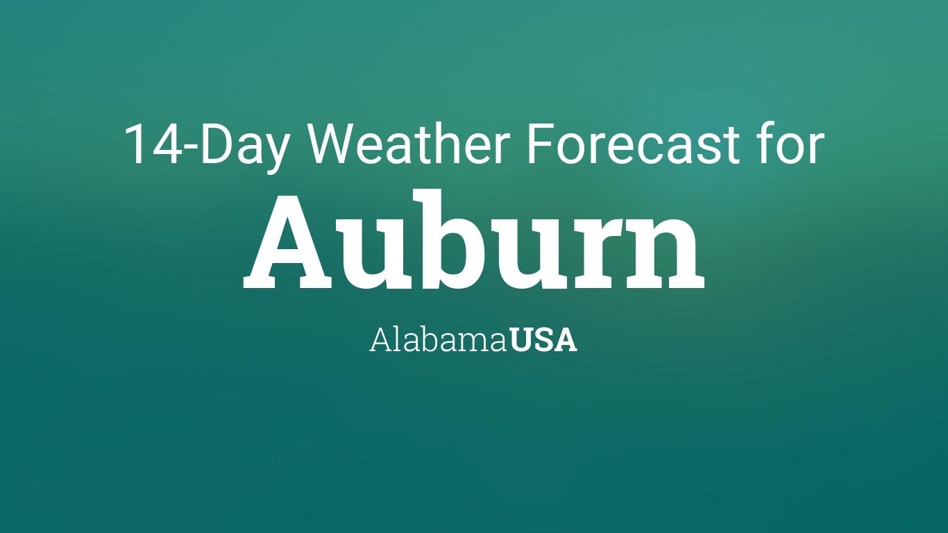 Auburn, Alabama, USA 14 day weather forecast