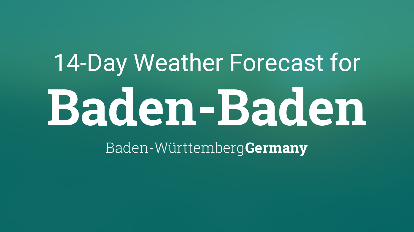 Weather In Baden Baden