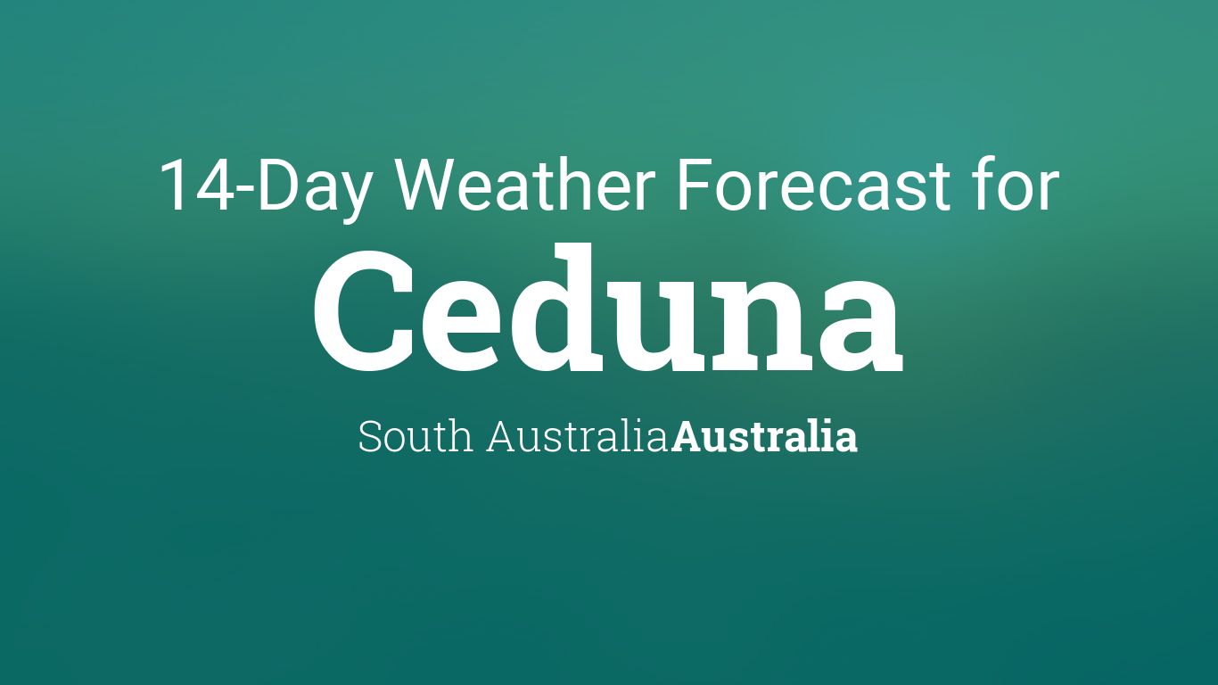 Ceduna, South Australia, Australia 14 day weather forecast