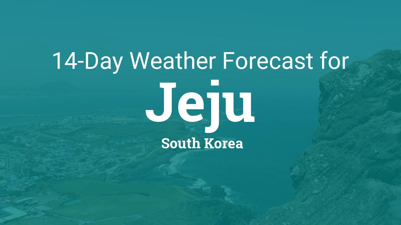 Jeju, South Korea 14 day weather forecast
